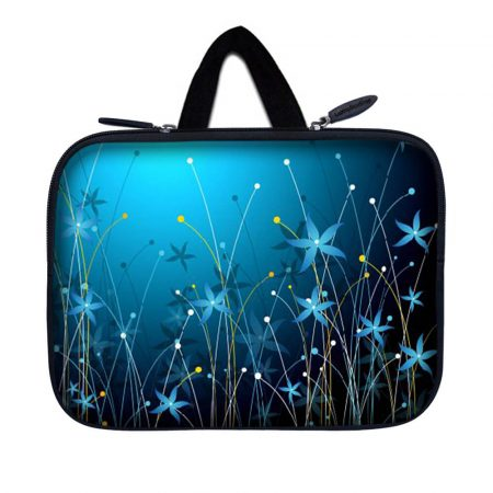 Tablet Sleeve Carrying Case w/ Hidden Handle – Blue Floral