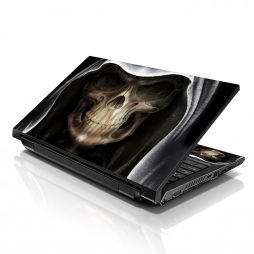 Notebook / Netbook Sleeve Carrying Case w/ Handle & Adjustable Shoulder Strap & Matching Skin – Hooded Dark Lord Skull