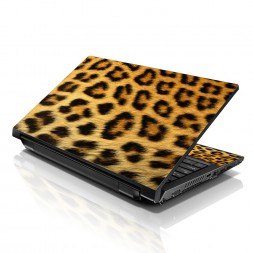 Notebook / Netbook Sleeve Carrying Case w/ Handle & Adjustable Shoulder Strap & Matching Skin – Leopard Print