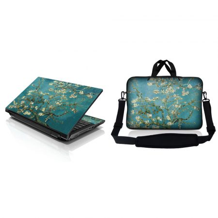 Notebook / Netbook Sleeve Carrying Case w/ Handle & Adjustable Shoulder Strap & Matching Skin – Almond Trees