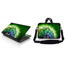 Notebook / Netbook Sleeve Carrying Case w/ Handle & Adjustable Shoulder Strap & Matching Skin – Hedgehog