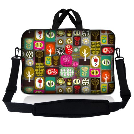 Notebook / Netbook Sleeve Carrying Case w/ Handle & Adjustable Shoulder Strap & Matching Skin – Symbols