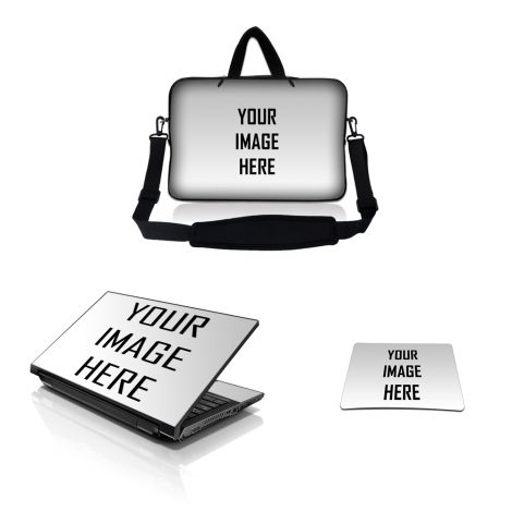 Сustom Laptop Skin and Sleeve W D Rings and Mouse Pad W Strap