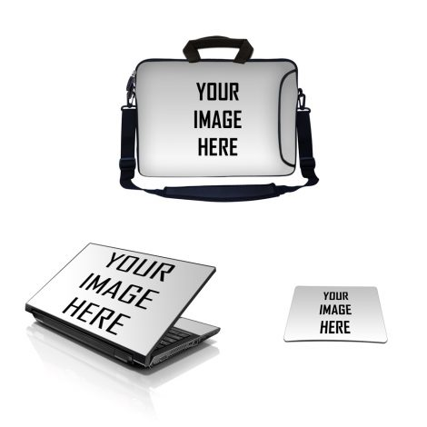 Custom Laptop Sleeve W Side Pocked and Skin and Mouse Pad